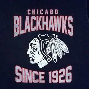 NHL Shirts - Men's Blackhawks tank top. Size large